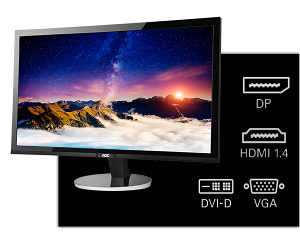 "Monitor 27"" AOC Q2778VQE Gaming QHD 1ms VGA HDMI"