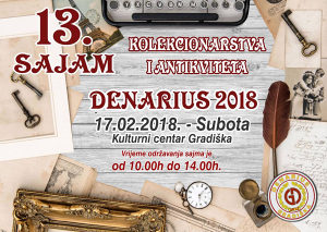 13.sajam kolekcionarstva i antikviteta,,Denarius 2018,,