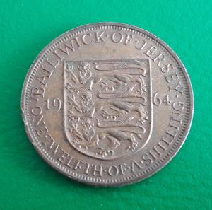 Jersey - Dzersi 1/12 shillings 1964.