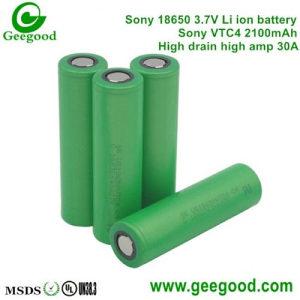18650 li ion baterije 30A SONY 2100 mAh 3 komada