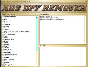 DPF, EGR, Lambda Remover 2017.5 (066/246-256)