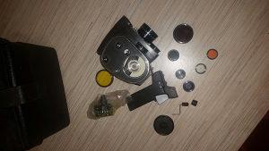 Stara ruska kamera sa svom pratećom opremom. Quarz 2M