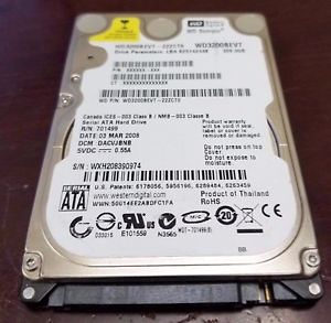 Hard disk za laptop WD 320GB