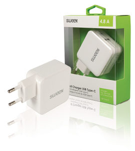 USB-C (USB C) punjac za mobitel Dual 5V 4.8A (18227)