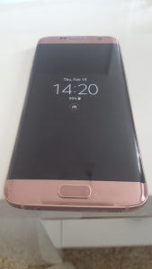 S7 edge pink gold rozi