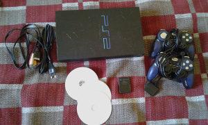 playstation 2 cipovan 2 dzojstika 3 igrice