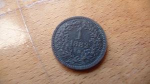 1 kreuzer 1882