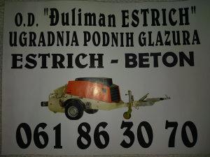 "Izrada podnih glazura ""estrich-estrih-beton"""