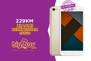 XIAOMI REDMI NOTE 5A 2GB/16GB EU - www.BigBuy.ba