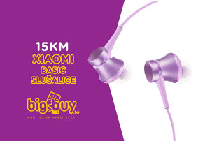 XIAOMI MI IN-EAR HEADPHONES BASIC - SLUŠALICE U UHO