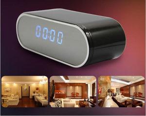Wifi skrivena kamera sat alarm 1080p HD špijunska