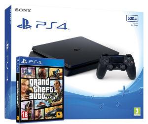 Sony PlayStation 4 500GB Slim 2116A GTA 5 V PS4