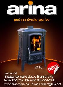 Kamin-peć Ferguss ARINA - niža