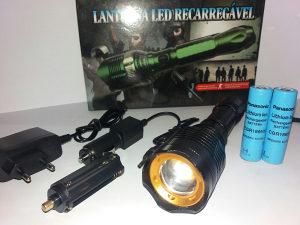 Led Lampa 1000lm/Panasonic Baterija/18650+Punjac