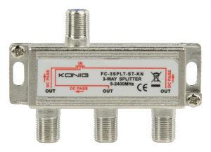 F-razdjelnik, 1 ulaz -> 3 izlaza, 5-2400 MHz