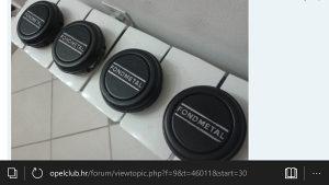 Cepovi za felge BBS Fondmetal ili mercedes 123 w123