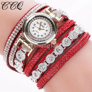 Elegantni ženski ručni sat narukvica model 8 crveni