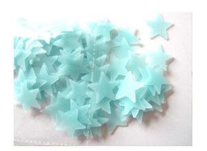 Naljepnice za zid zvijezde - svijetle u mraku Z1 plave