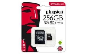 KARTICA KINGSTON MICROSD 256GB CANVAS SELECT;
