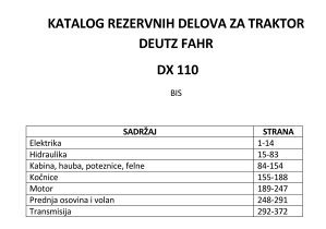 Deutz Fahr DX 110 - katalog dijelova