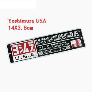 Yoshimura 3D stiker naljepnica metalna za auspuh