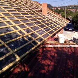 Popravka krova,izrada novog i priprema za lim.