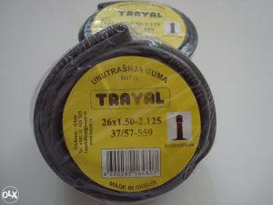 Unutrašnja guma TRAYAL 26 x 1,50-2,125