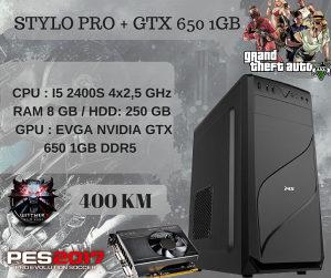 STYLO PRO I5 2400S 4X2,5/8GB RAM/1GB DDR5 GTX650