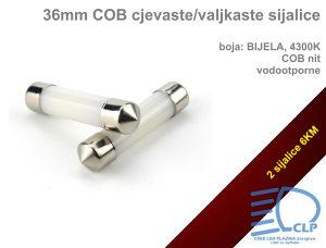 36mm LED COB cjevaste sijalice za tablice