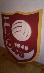 3D grb FK Sarajevo od stiropora