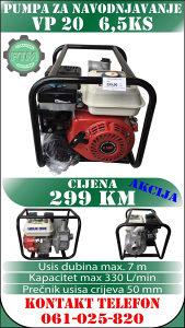 Pumpa za navodnjavanje pumpa za vodu benzin