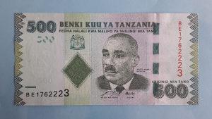 Tanzanija 500 shillings 2011. UNC