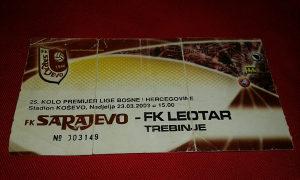 Ulaznica Sarajevo - Leotar
