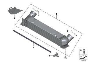 bmw 1 e87 04-07 hladnjak zraka Intercooler NOVO