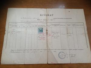 Mađarski dokument iz 1915 GODINE
