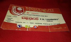 Ulaznica Sarajevo - Sloboda