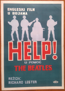 HELP! U POMOC  THE BEATLES original kino plakat poster