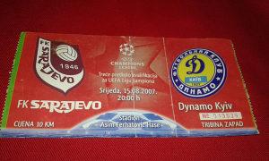 Ulaznica Sarajevo - Dynamo Kyiv