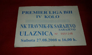 Ulaznica Travnik - Sarajevo
