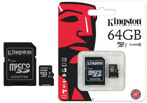 MicroSD Kingston 64GB Class10