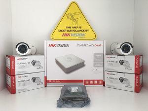 Video nadzor SET 4 kamere DVR HDD HIKVISION HD