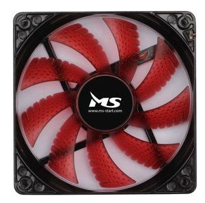 MS Ventilator za kućište - PC 12cm Crveni LED
