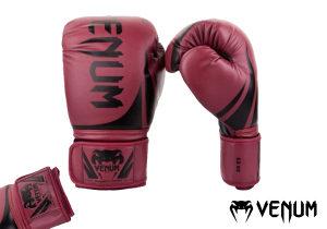 "Venum - ""Challenger 2.0"" Boxing Gloves - Red Wine/Black"