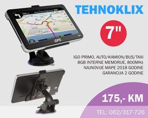 GPS Navigacije 7 incha IGO (8GB/800)kamion,auto 2 god