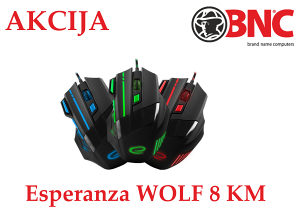 Esperanza 7D wolf EGM201G Gamerski mis