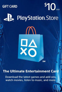 10$ PSN PLAYSTATION NETWORK CARD PS4