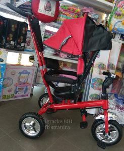 Tricikl guralica triciklo djecije biciklo CRVENO