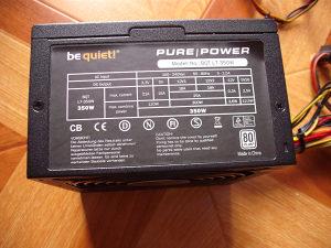 Napojna jedinica BeQuiet PurePower 350W
