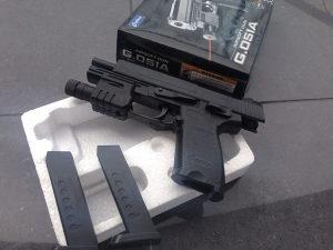 Galaxy G.051A Spring airsoft pistolj 2x okvira/sanzera