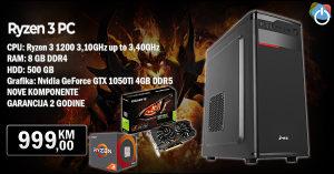 Računar RYZEN 3 PC; RYZEN 3 1200 3,10GHz 8GB DDR4